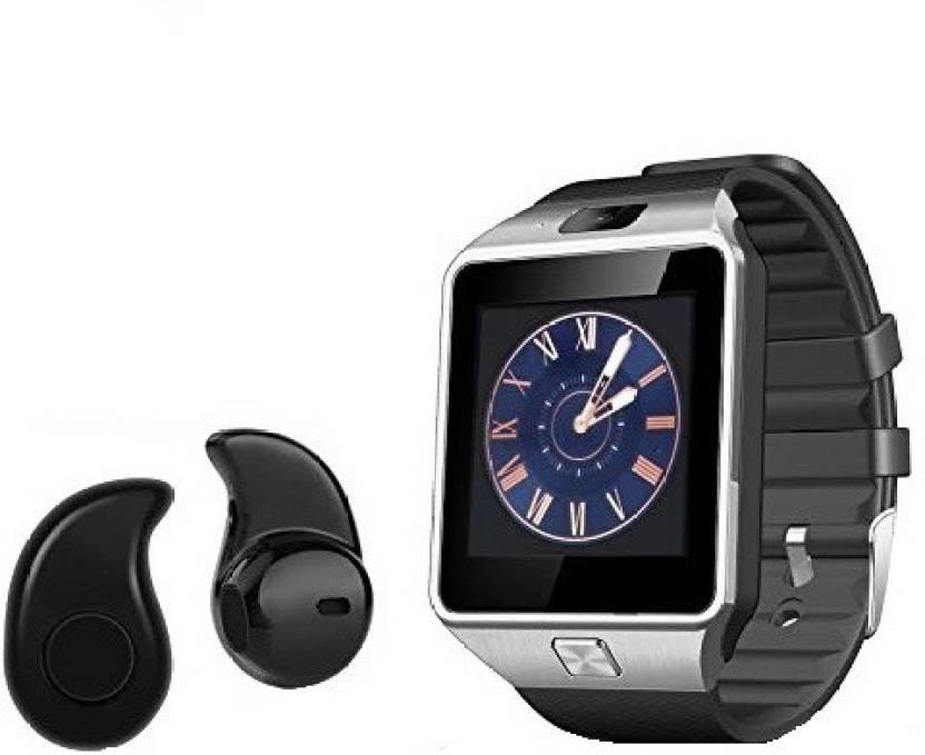 36326eddcf0 Premsons Bluetooth DZ09 Smart Watch Wrist Watch Phone with Camera & SIM  Card Support + FREE GIFT Bluetooth Earphones Smartwatch (Silver Strap)