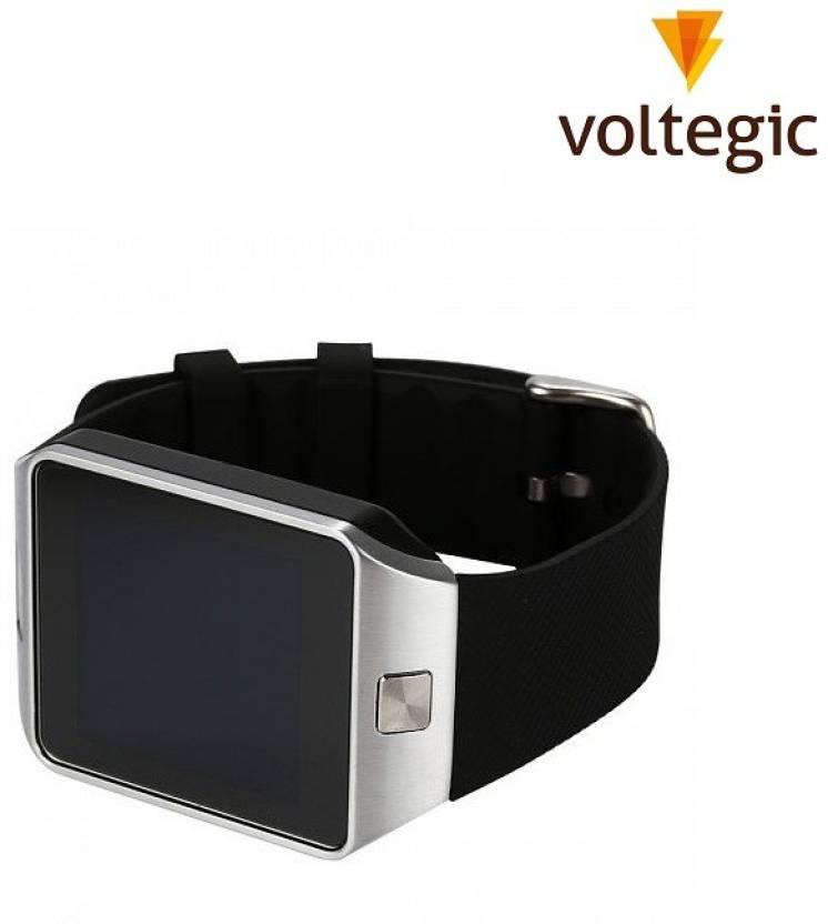 Voltegic ® DZ09 Quad Band Bluetooth with sim card slot, sd card slot, camera Silver Smartwatch