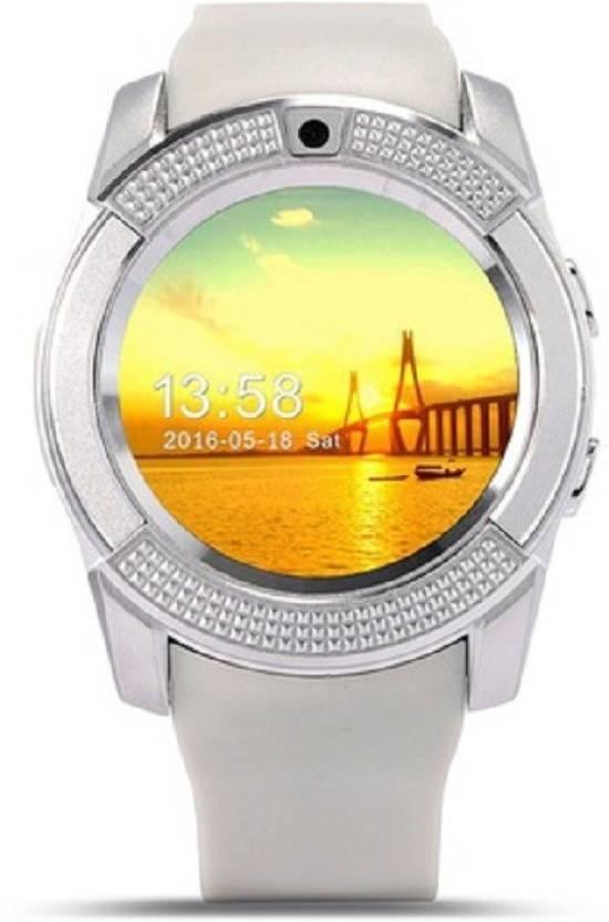 Wonder World ® V8 Circular Touch Screen MP3 Support SIM Card, 32GB TF Card Pedometer Sleep Monitor Grey Smartwatch