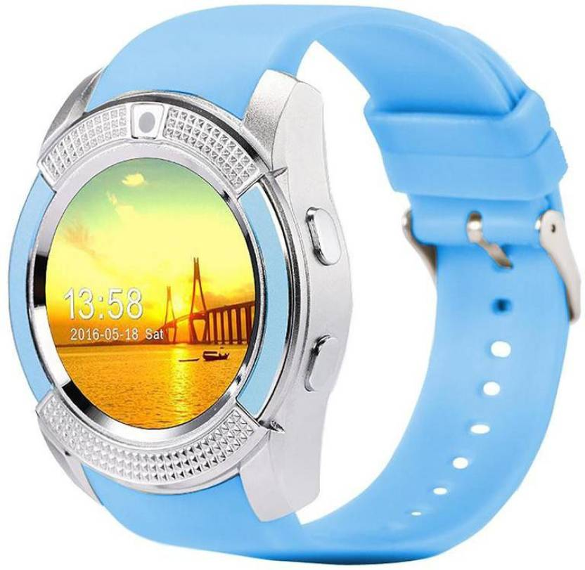 Life Like V8 BLUETOOTH WITH SIM CARD & SD CARD SUPPORT BLUE Smartwatch
