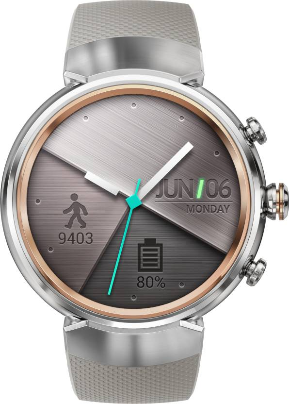 Asus Zenwatch 3 Silver with Beige Rubber Strap For Women and Men