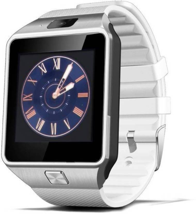 MM Bluetooth Smart Camera Sim Watch for Andriod & iOS Smartwatch  (White Strap Regular)