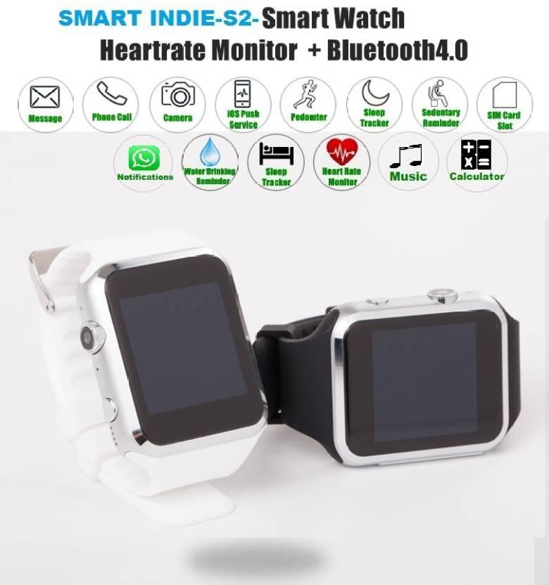 Smart Indie Indie S2 Black, White Smartwatch