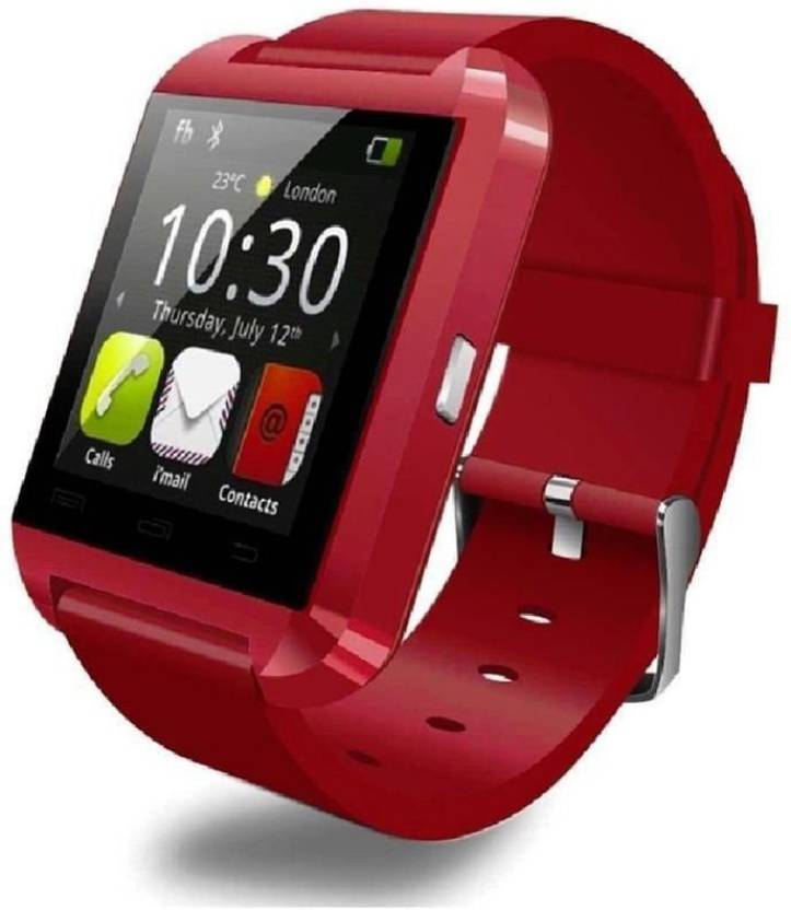 OPTA Basic Bluetooth Smart Watch Android and IOS series Smartwatch (Red Strap)