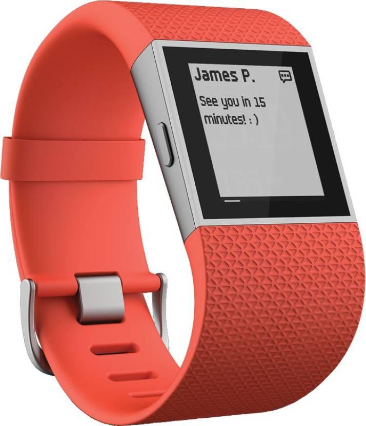 Fitbit Surge Tangerine Large Tangerine Smartwatch