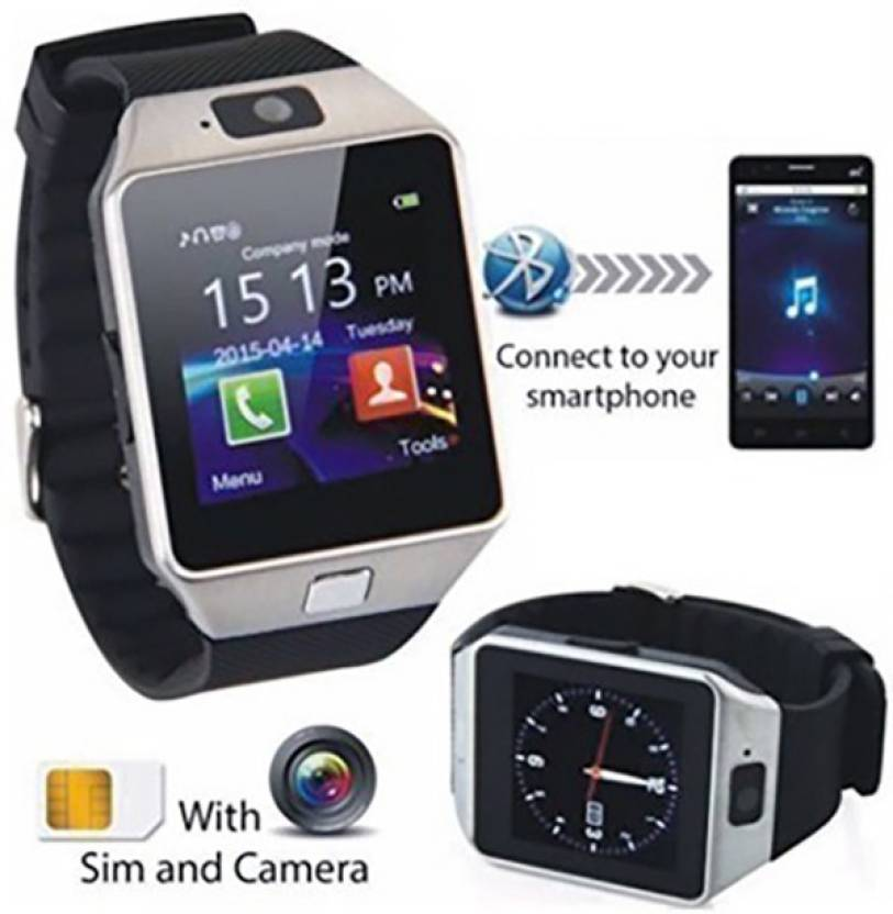 HealthMax with SIM card, 32GB memory card slot, Bluetooth and Fitness Tracker 02-SR Silver Smartwatch