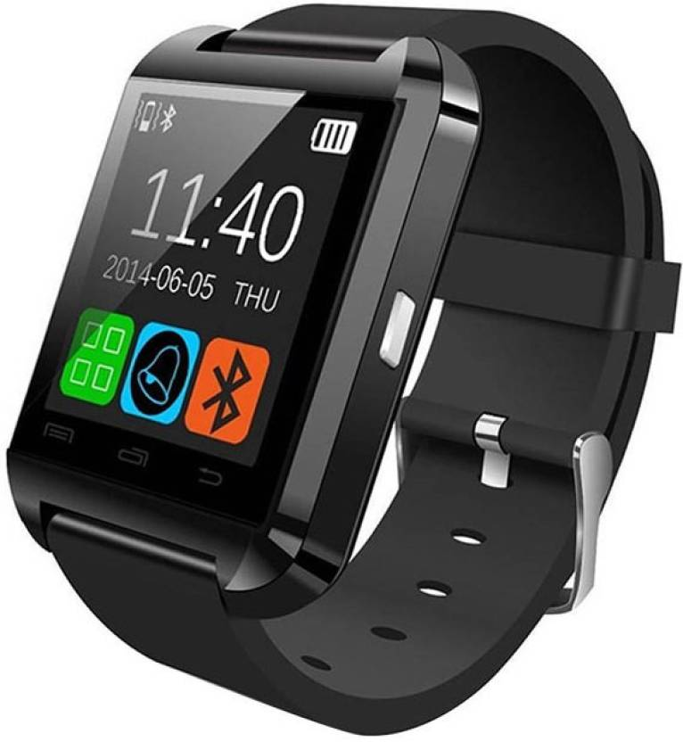 Maya U8 Maya Black Smartwatch (Black Strap)