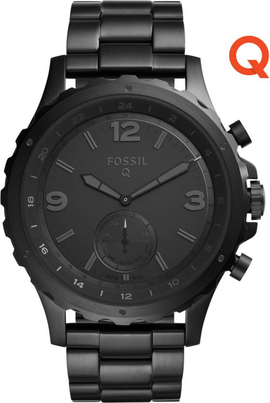 Fossil Smartwatches Starting at Rs 11,995 | No Cost EMI from Rs 1000/Month By Flipkart | Fossil Q Nate Hybrid (For Men) Smartwatch  (Black Strap Regular) @ Rs.13,995