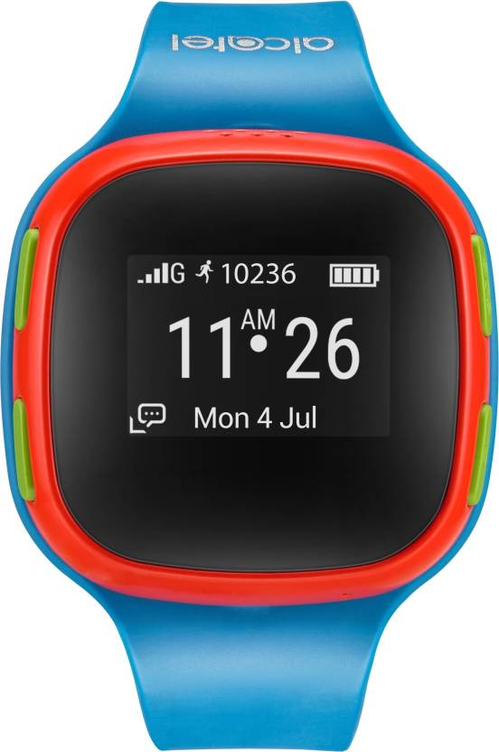 Flat Rs 2,000 Off On Alcatel Kids Smartwatch Just Rs.3,999 By Flipkart | Alcatel Kids Watchphone with Location Tracking Smartwatch  (Blue Strap Small) @ Rs.3,999