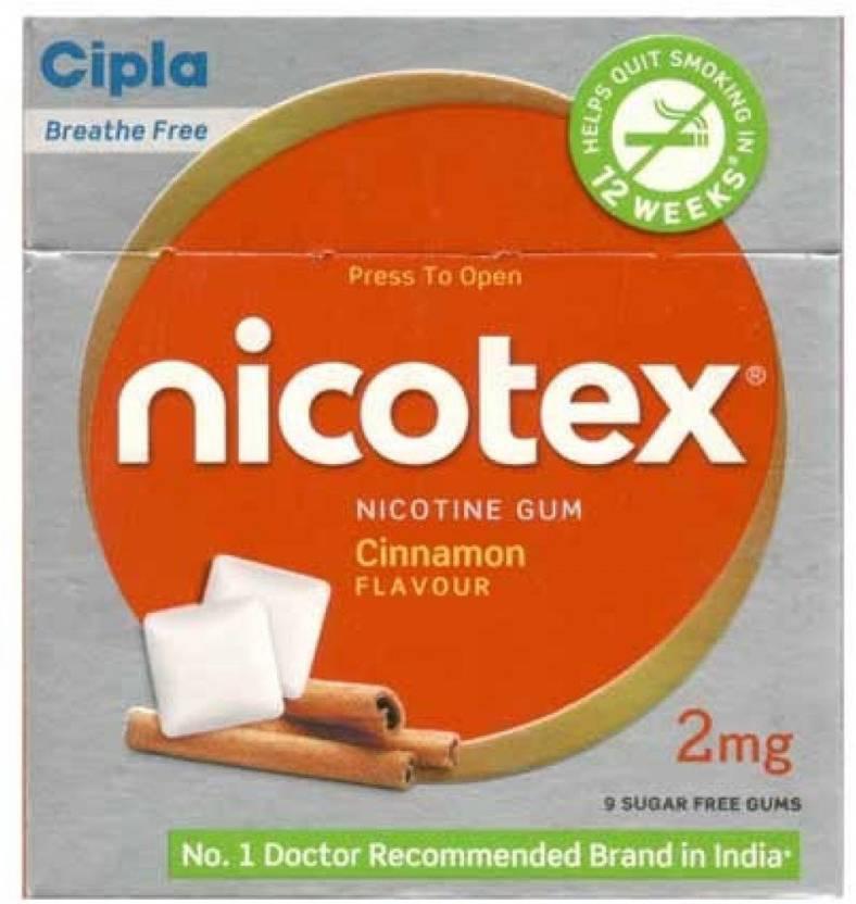 Cipla Nicotex 2mg Cinnamon Flavour Nicotine Gum 16 hour patch Smoking Patch