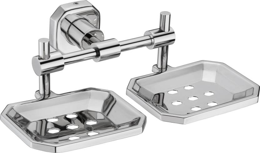 . Jovial 109 Classy Double Soap Dish Stand  Double Soap dish Holder  Bathroom  Accessories Glossy Finish  304 Stainless Steel