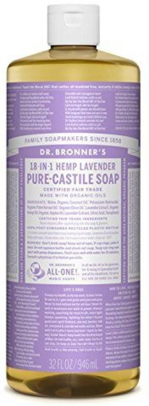 Dr  Bronner's Magic Soaps Pure - Castile Soap 18 - In - 1