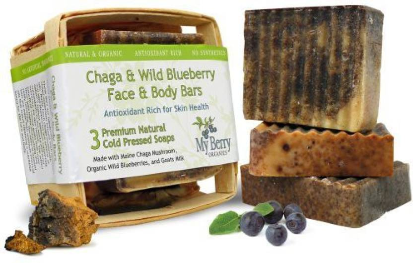 My Berry Organics Maine Soap (3) Face & Body Bars Unique