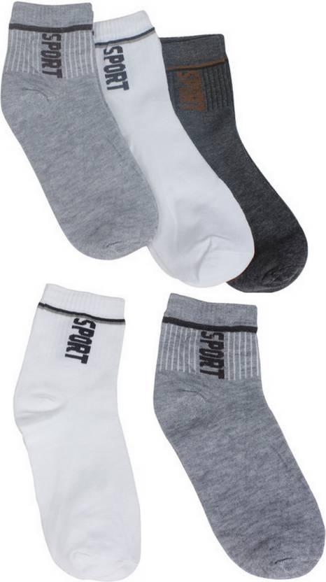 Gumber Men's Solid Ankle Length Socks