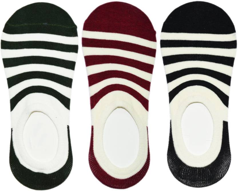 ME Stores Men's Striped Peds/Footie/No-Show