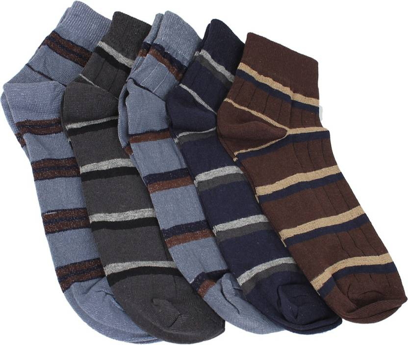Mikado Simple Charm Men's Striped Ankle Length Socks