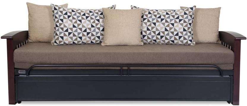 Furniturekraft Scb8070 Grey With Mattress Single Metal Sofa Bed