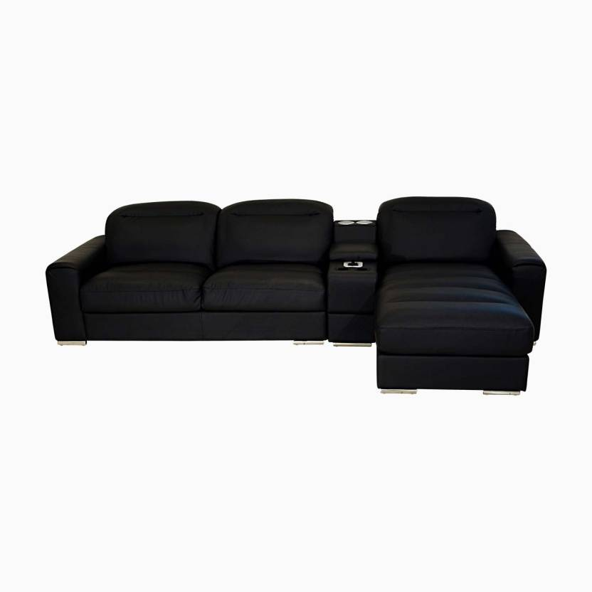 Godrej Interio Acoustica L Shape Blk Sofa Leatherette 3 Seater Sectional Price In India Buy