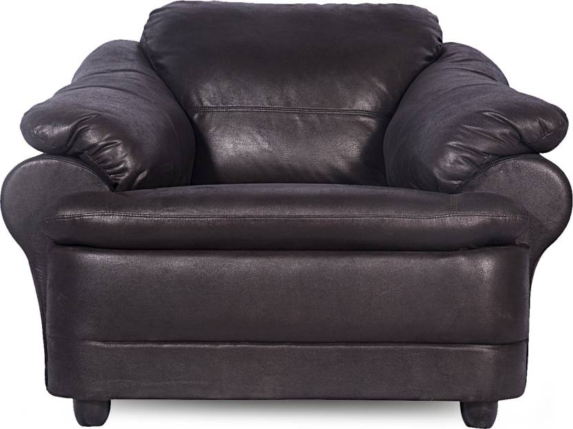 Godrej Interio Leatherette 1 Seater Sofa Finish Color Black Available At Flipkart For