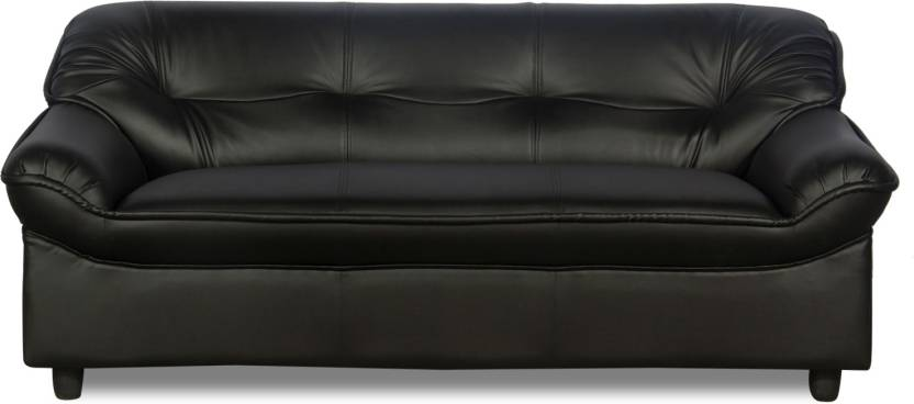 Rej Interio Micro Plus Leather 3 Seater Sofa