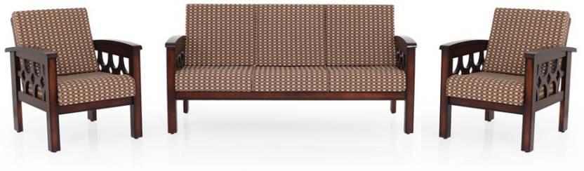 JFA PAOLINA Fabric 3 + 1 + 1 Darkwalnut Sofa Set