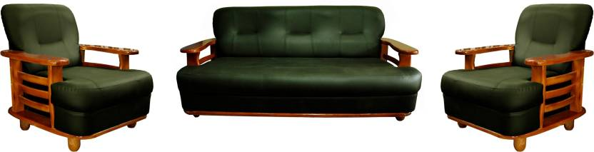 Knight Industry Leatherette 3 1 1 Dark Green Sofa Set Price In