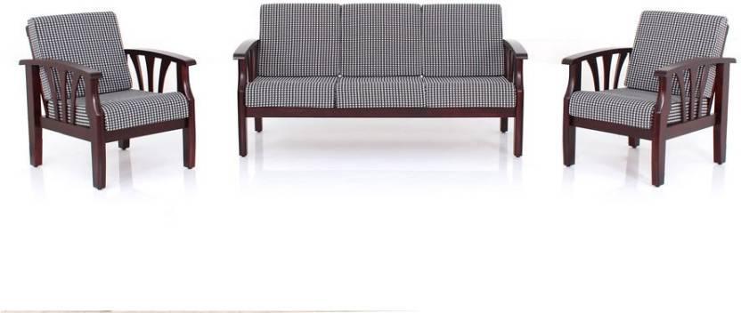 JFA PETRIE Fabric 3 + 1 + 1 Rosewood Sofa Set