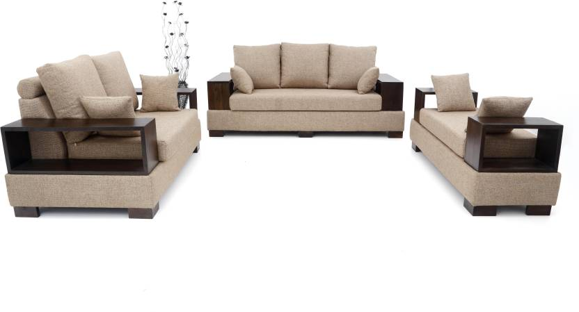 Admirable Furnicity Leatherette 3 2 1 Beige Sofa Set Price In Pabps2019 Chair Design Images Pabps2019Com
