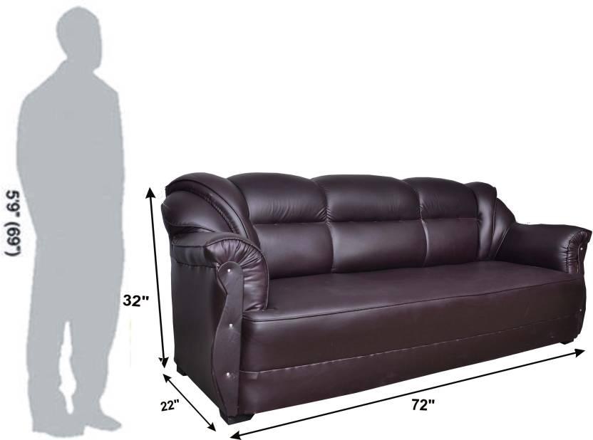 HOMESTOCK Leatherette 3 + 1 + 1 Brown Sofa Set Price in India - Buy ...