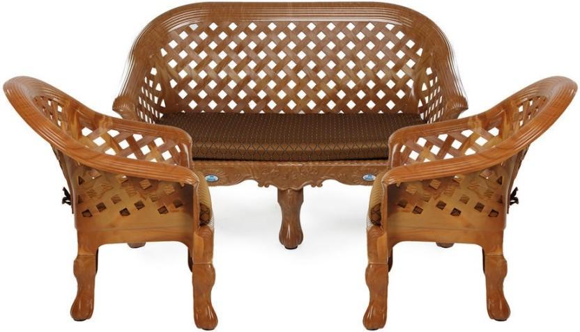 Beautiful Nilkamal Luxura Fabric 2 + 1 + 1 Sofa Set