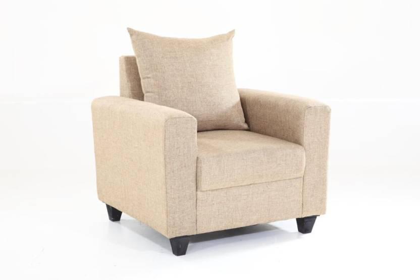 Furnicity Solid Wood Sectional Beige Sofa Set