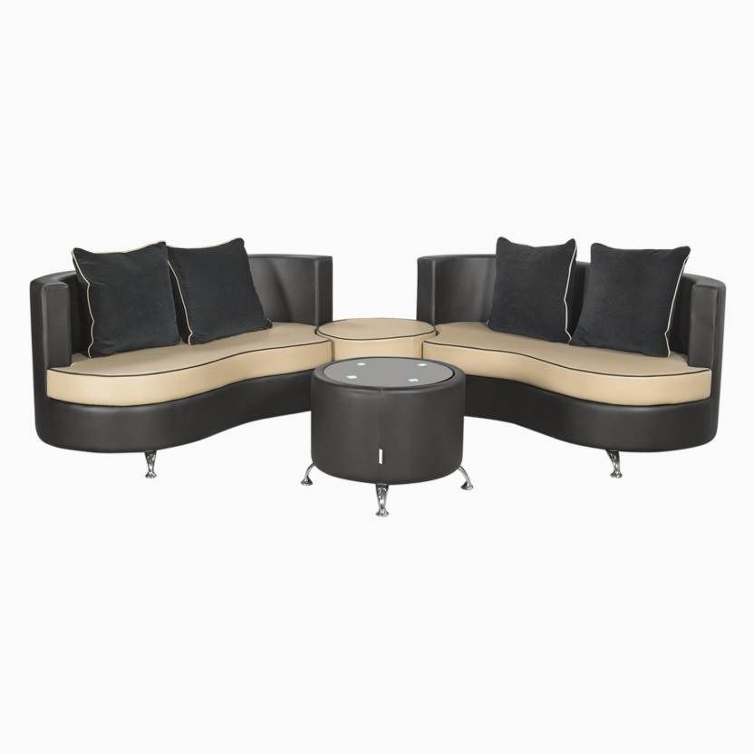Leather Sofa Set Designs With Price In Chennai: Godrej Interio ATHENA PLUS In S1n Lth BlackB Leatherette 2
