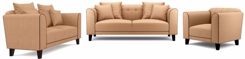 Furny Ferris Fabric 3 2 1 Camel Sofa Set