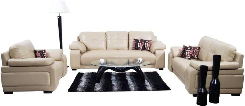 Pleasing Home City Gloria Leatherette 3 2 1 Beige Sofa Set Pabps2019 Chair Design Images Pabps2019Com