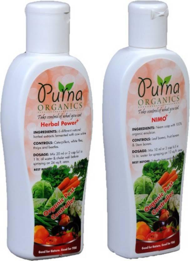 Purna Organics Pest Control Combo Small 100ml2 Neem Based Pest