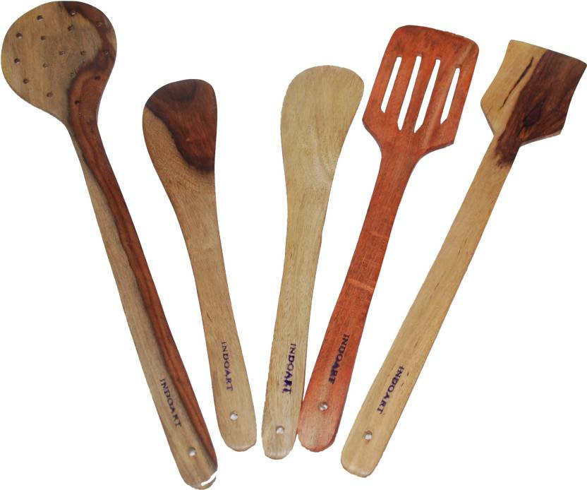 Indoart Wooden Spatula  (Pack of 5)
