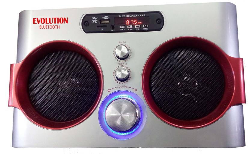 Evolution Kart BLUTH007 5 W Portable Bluetooth Speaker Silver, Stereo Channel