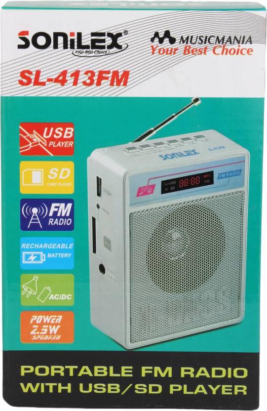 Sonilex SL 413FM Mobile/Tablet Speaker White, 2.1 Channel