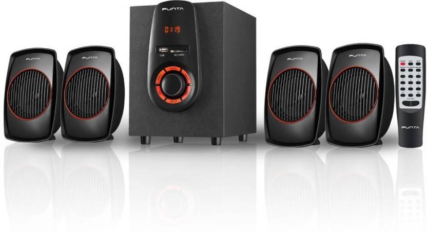 Punta P-3450UF 4.1 Home Audio Speaker  (Black, 4.1 Channel)