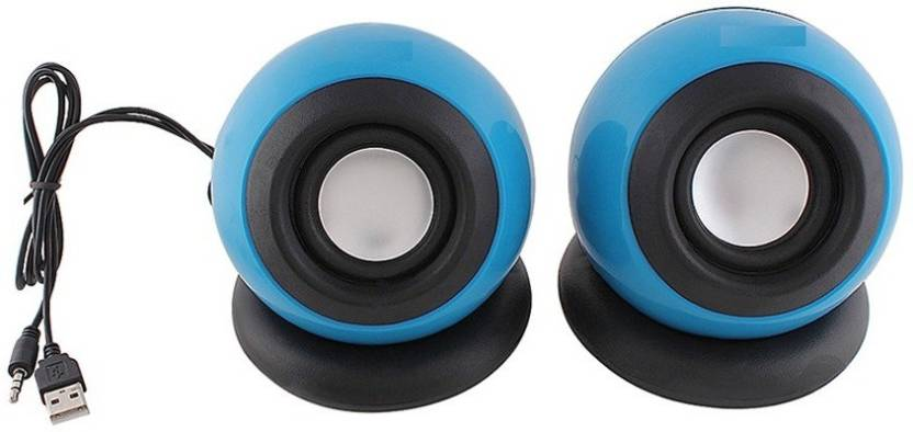 Adnet USB 2.0 Mini High Bass  Blue 2.0 Channel  Portable Laptop/Desktop Speaker Blue, Mono Channel