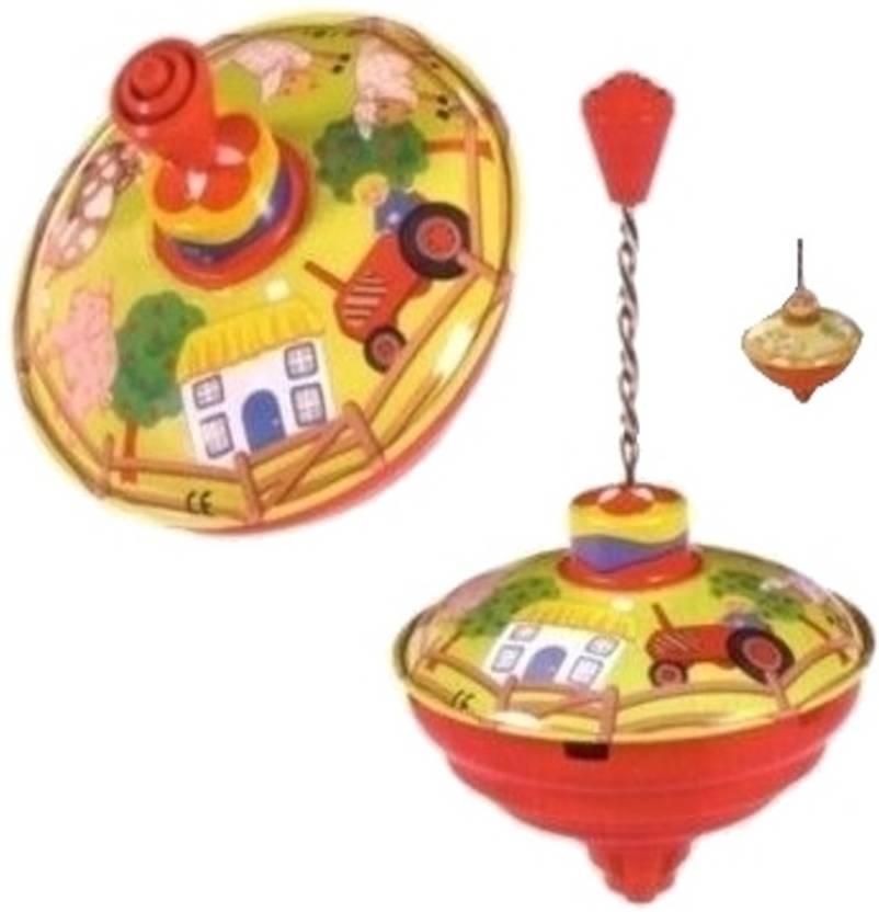 Toysmith Harmonic Spinning Top - Farm by Bolz
