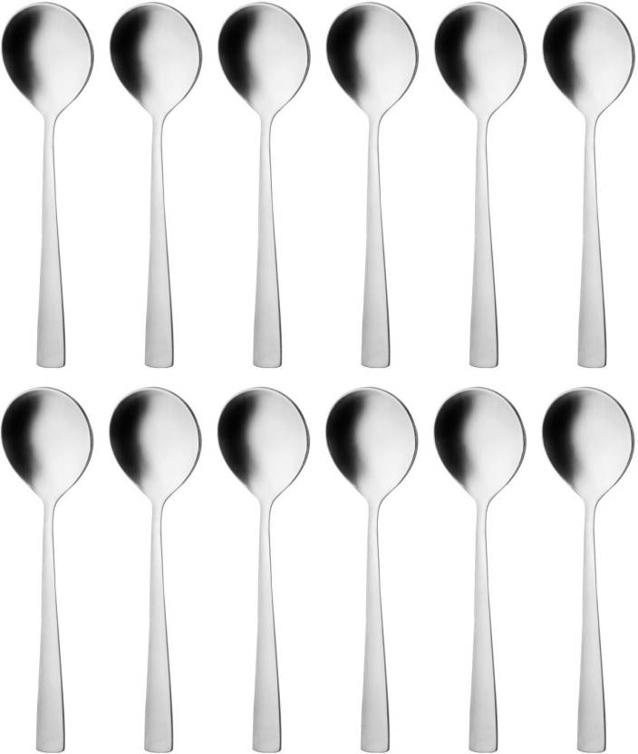 Mosaic Stainless Steel Soup Spoon Set Price In India Buy Mosaic
