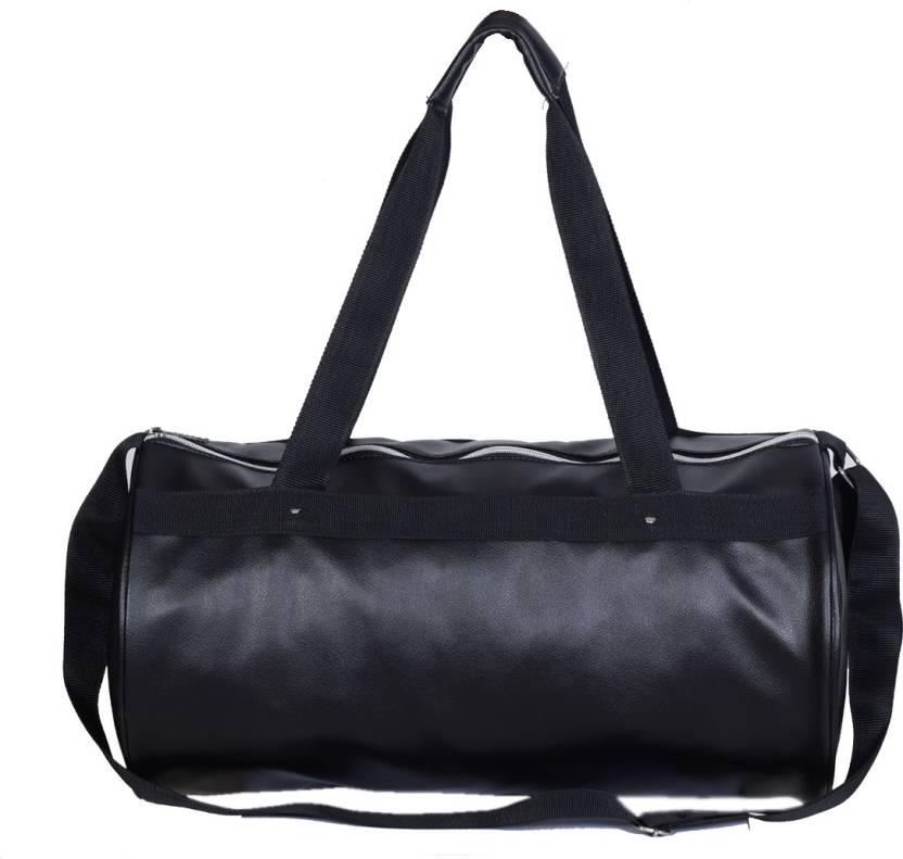 a4cd584c2f34a9 Dee Mannequin Vivacious Black Leather Rite Gym Bag (Black, Kit Bag)