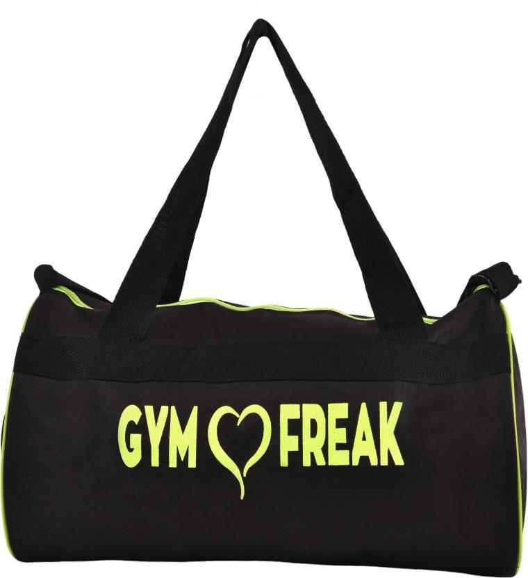 gag wears Fitness Gym Bag Black, Kit Bag