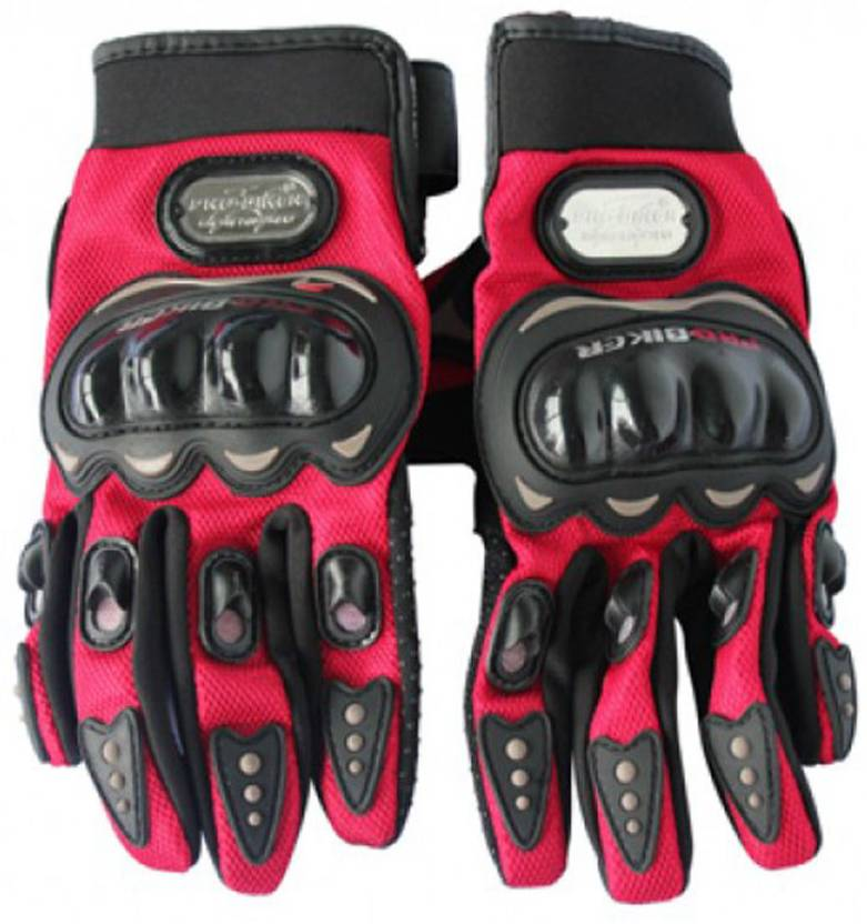 Pro Biker Biker Riding Gloves (XL, Black, Red) By Flipkart @ Rs.299