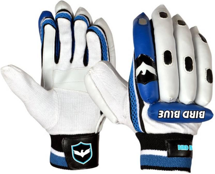 Birdblue We Power Batting Gloves (Boys, White, Blue)