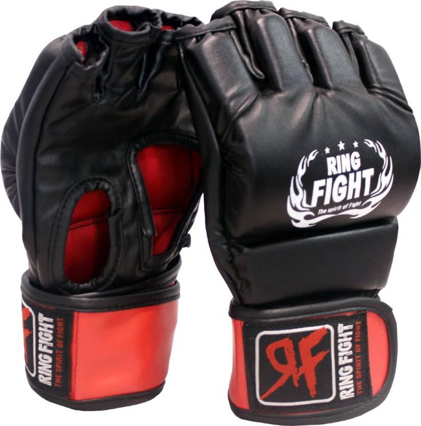 Ring Fight MMA UFC Open Finger Grappling Gloves Boxing Gloves Black, Red