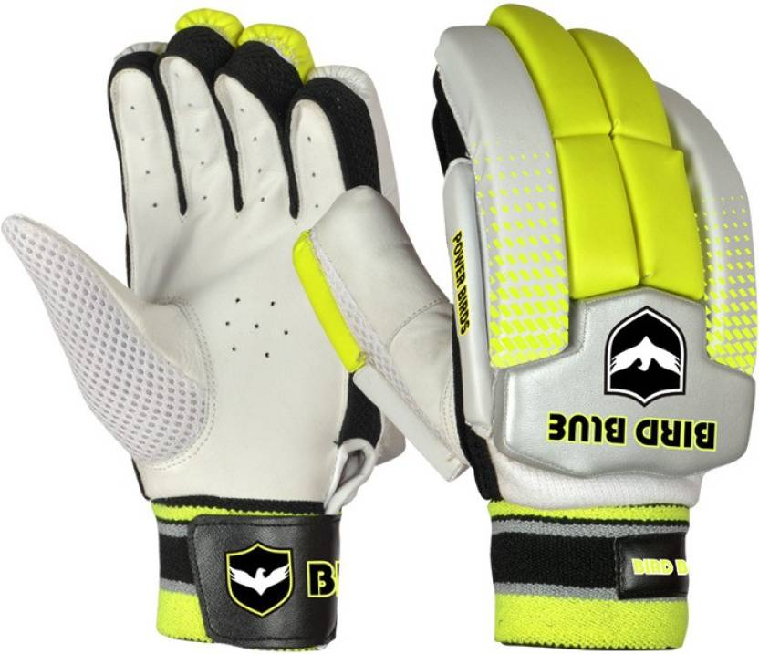 Birdblue Power Bird Batting Gloves (Boys, White, Yellow)