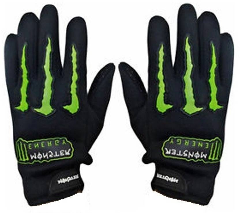 Monster Bike Driving Gloves (XL, Black)