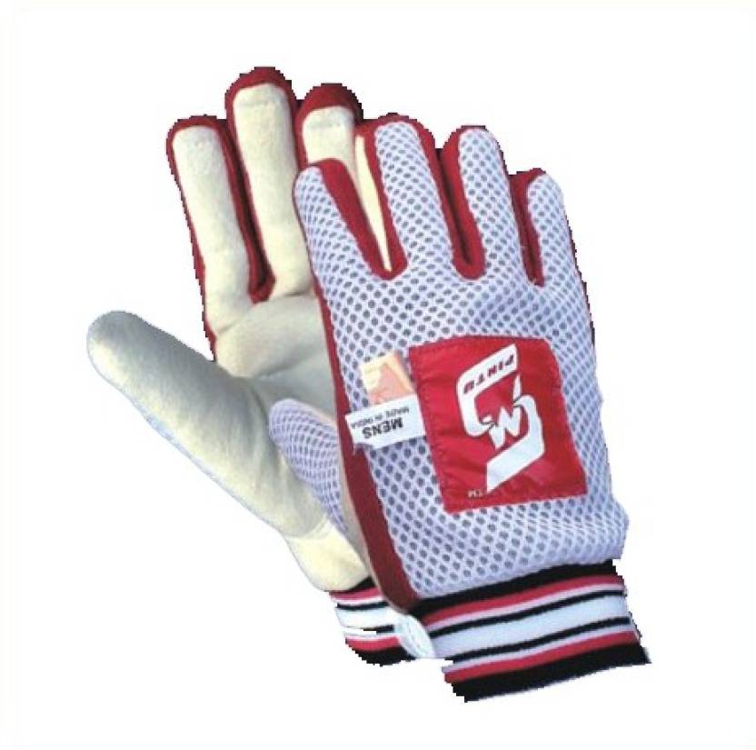 SM Swagger Batting Gloves (Men, White, Red)
